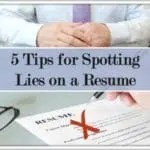 Spotting Lies on a Resume
