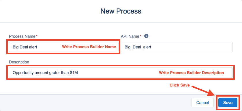 New Process Builder