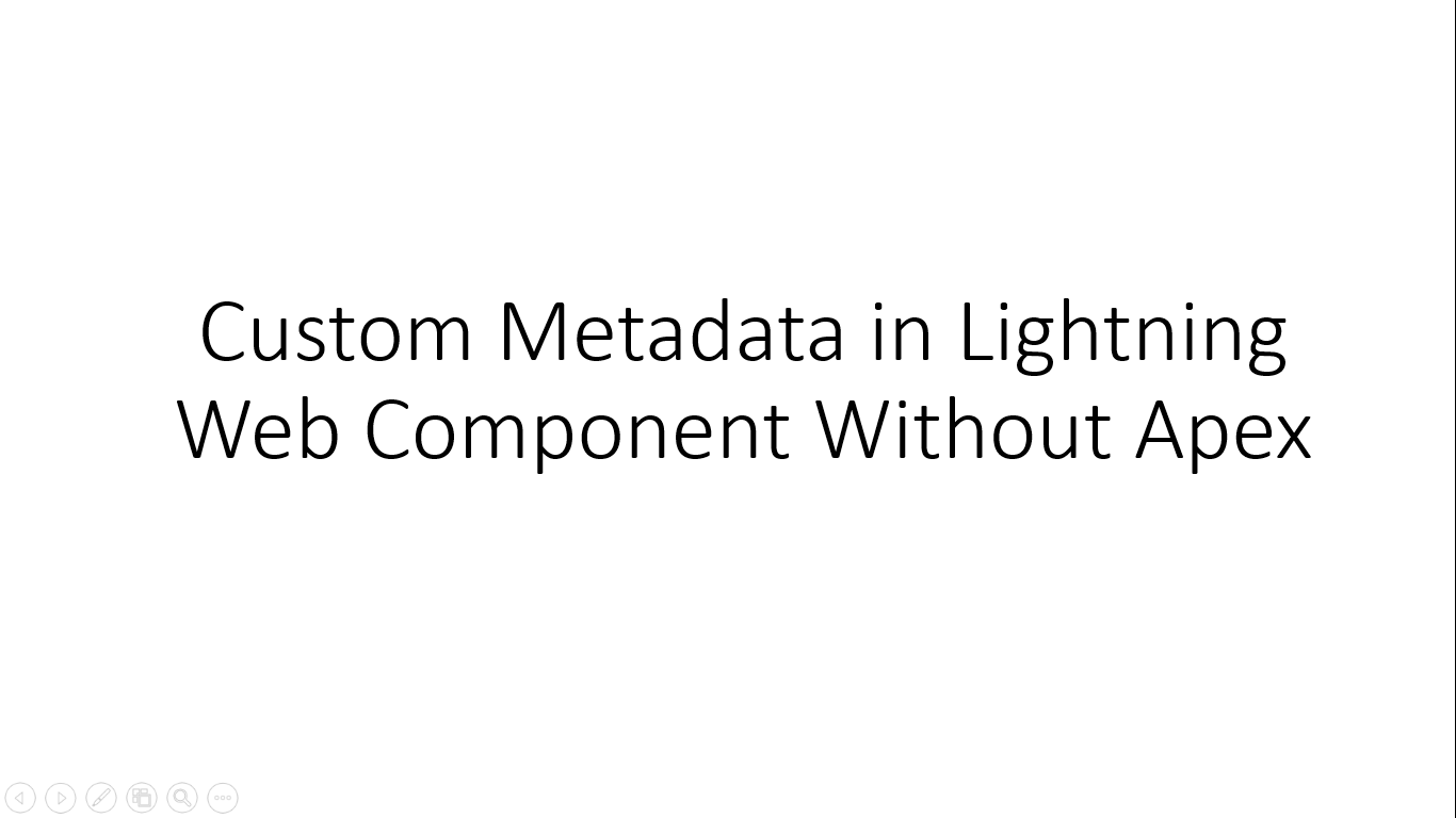 Custom Metadata in Lightning Web Component Without Apex