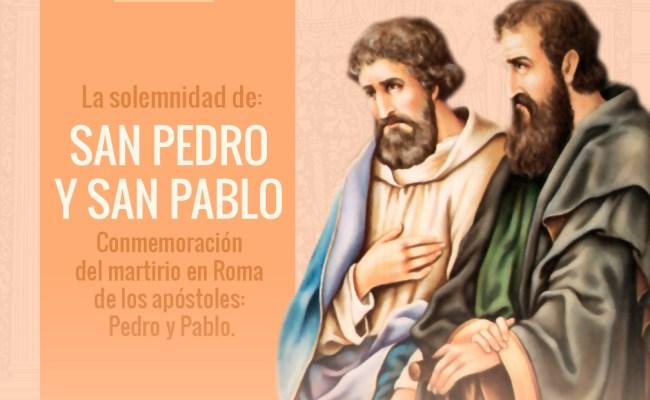 29 De Junio Feliz Fiesta De San Pedro Y San Pablo