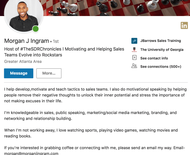 How to Optimize Your LinkedIn Profile for Social Selling - SalesLoft