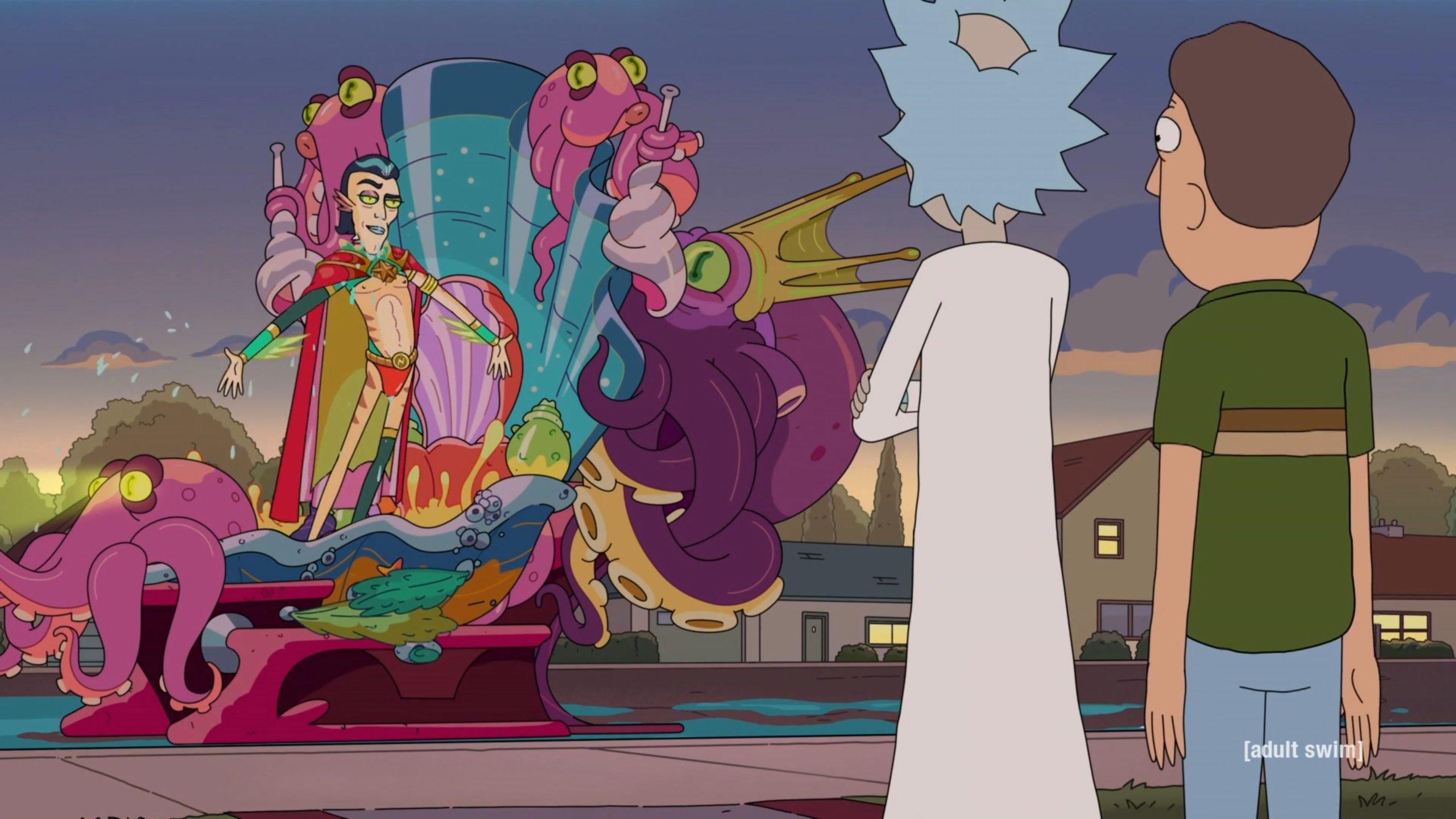 Rick, arch nemesis Mr. Nimbus, and Jerry outside