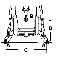 John Deere 3-point hitch for X700 Lawn Tractors