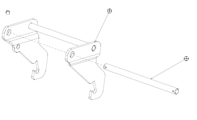 Front hitch/mid-mount mower combo bracket
