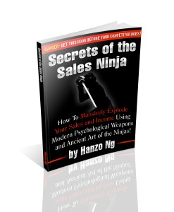 Secrets of the sales ninja ebook