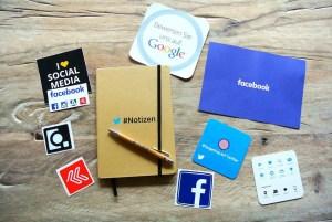 magazine ads and social media presence