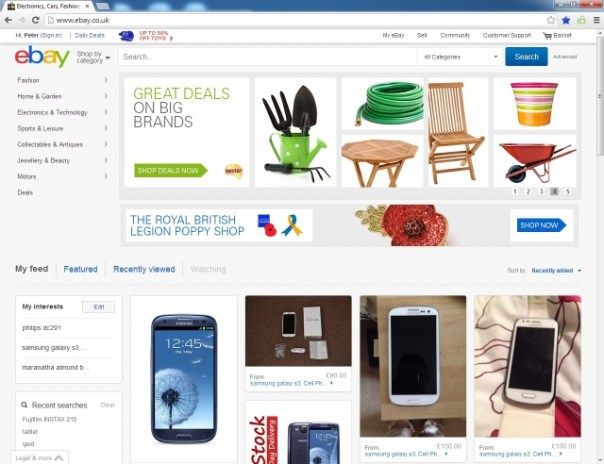 eBay front page