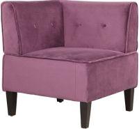 Linon 36820VIO01U Corner Chair; Add bold, unique style to