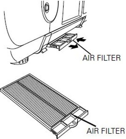 Sanyo 610-334-1057 Replacement Air Filter Unit for use