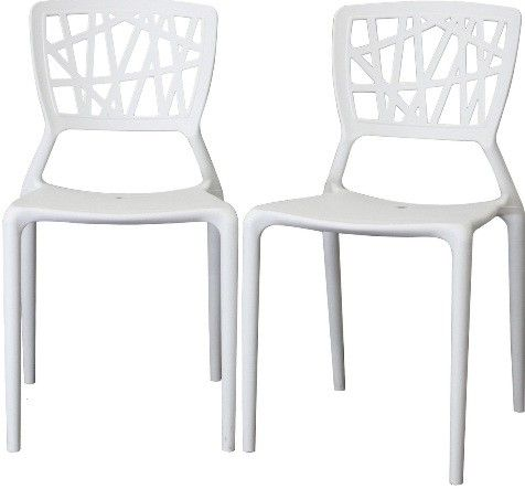 white plastic dining chairs beige wingback chair wholesale interiors dc 452 b oketo modern abstract cut out design on backrest makes for a great conversation piece