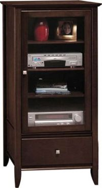 Bush AD05840-03 Audio Cabinet, Sonoma Collection, Mocha ...