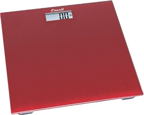 Red Bathroom Scale