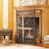 CBK Styles 43541 Oversized Tri-Panel Fireplace Screen ...