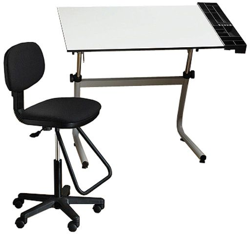 drafting table chairs chair cover hire falkirk alvin cc2001d vista creative center set contemporary heavy duty tubular metal design for strength and durability