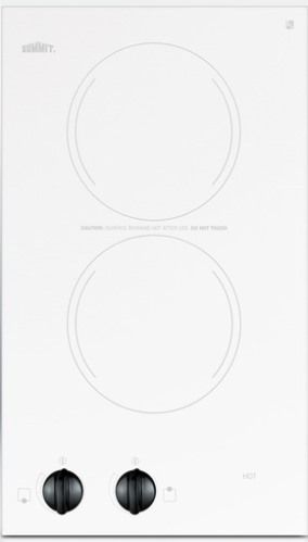 Summit CR2220WH Two 230V Burner Electric Cooktop, Smooth