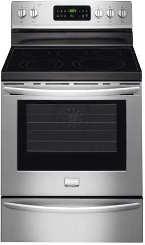 smudge proof stainless steel kitchen appliances exhaust frigidaire fgef3035rf gallery 30'' freestanding electric ...