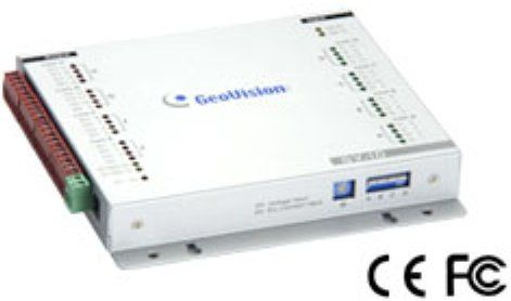 GeoVision GV-IO USB Box Input/Output Control. Provides 16 inputs and 16 relay outputs. Supports both DC and AC output voltages. and provides a USB ...