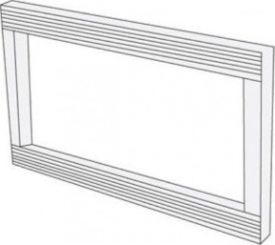 Sharp RK-46W24 Built-In Trim Kit, White Fits with Sharp R