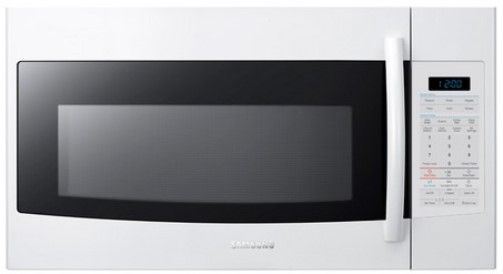 samsung smh1816w over the range microwave white 1 8 cu ft oven capacity 1100 watts cooking power