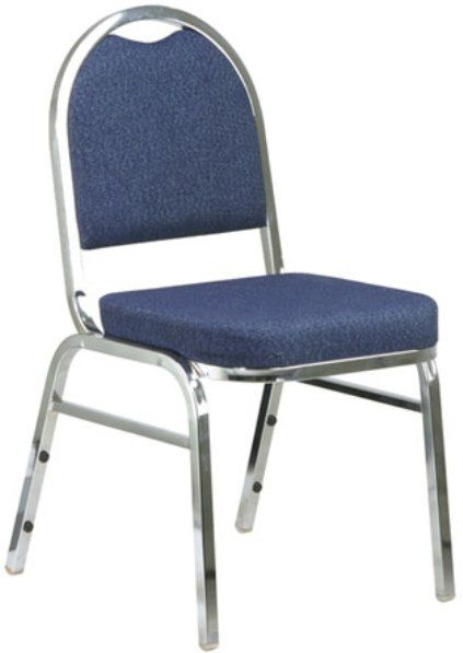 Office Star STC2550 Armless Stacking Chair with Chrome