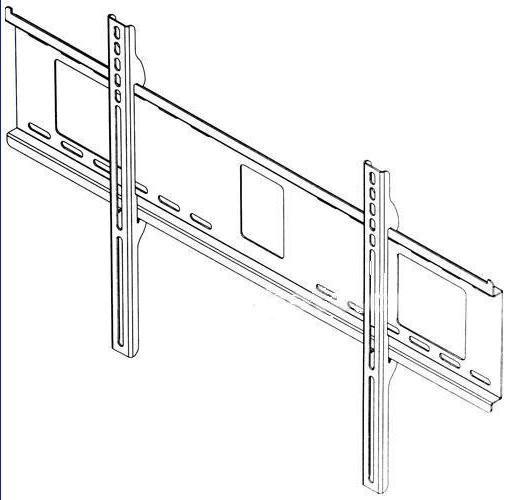 Panasonic Ty-Yu42K Mnt Standard Flat, Slim Wall Mount; 7.4