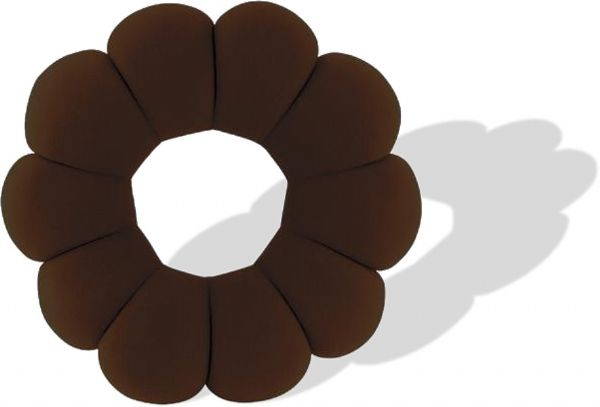 ja clean usj 840brn donut pillow brown color provides incredible comfort great for travel the office or home seat cushion lumbar support pillow neck rest back rest floor pillow head support dimensions 8