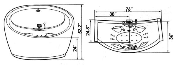 Royal SSWW A-909 Jacuzzi Whirlpool, ETL Approved, Computer