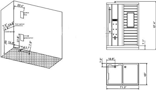 Ariel Platinum DS201 Steam Shower, Steam / Dry sauna combo