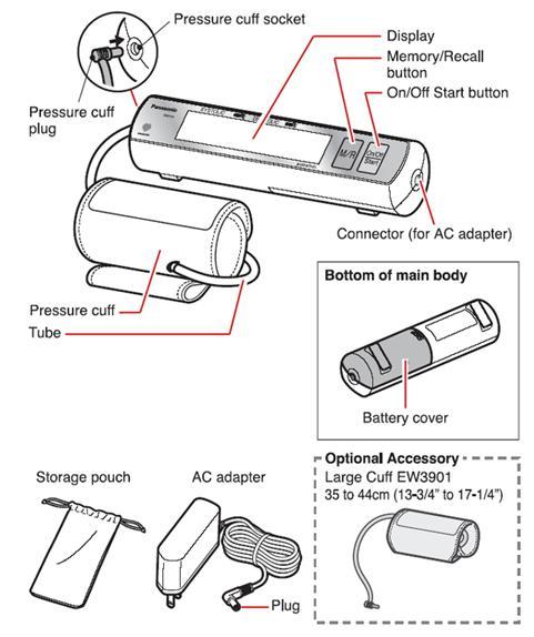 Panasonic EW3109ACW Portable Automatic Arm Blood Pressure