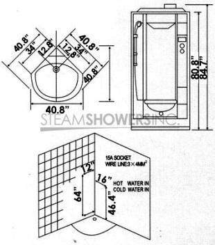 AmeriSteam P218 Steam Shower Unit, Power On/Off button