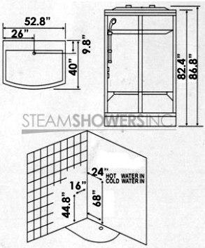 AmeriSteam P219 Ariel ZA219 Steam Shower Unit, Power On