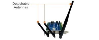 TRENDnet TEW-623PI Wireless N-Draft PCI Adapter, Wi-Fi