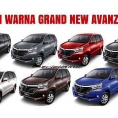 Pilihan Warna Grand New Avanza 2015 Launching Info Harga Mobil Toyota Grandnew 1 3 G M T Di Jakarta Auto Cabin Safety Dashboard Exterior Bagasi