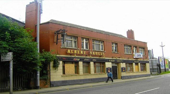 The former Albert Vaults pub, now demolished - by Stephen Broadhurst