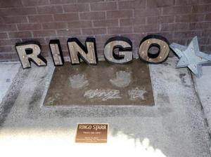 Ringo Starr handprintsLV