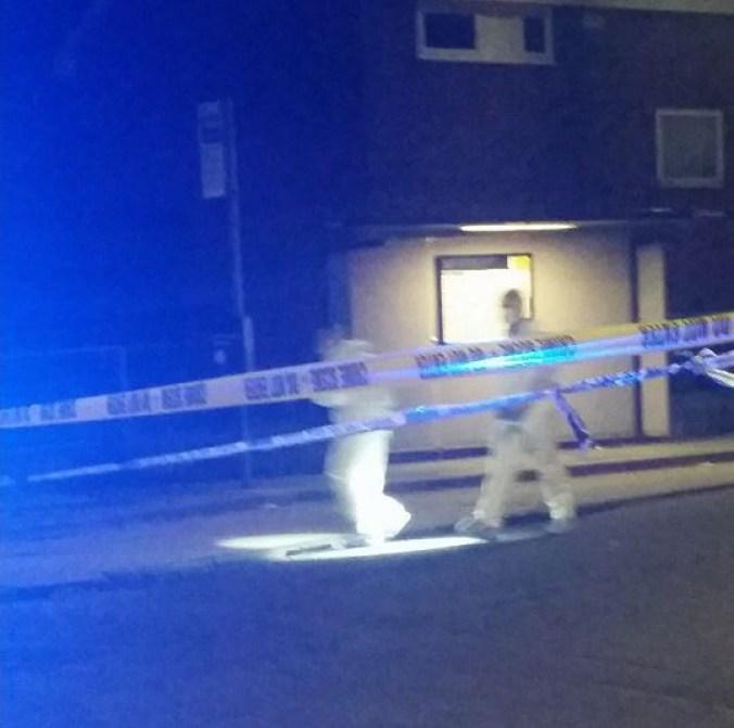 forensics shots fired whit lane salford