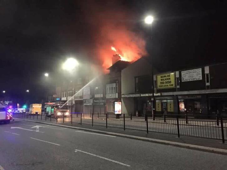 Firefighters douse the flames in Walkden fire - By Adam Davies