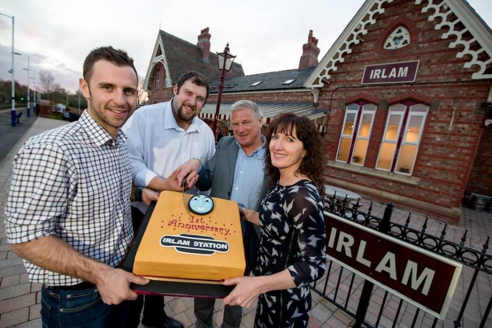 Irlam Station recently celebrated 1 year since its renovation was complete