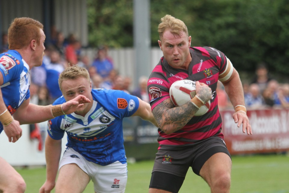 Swinton (8) v Oldham (30) Sunday 14th August Heywood Road Sale Danny Langtree