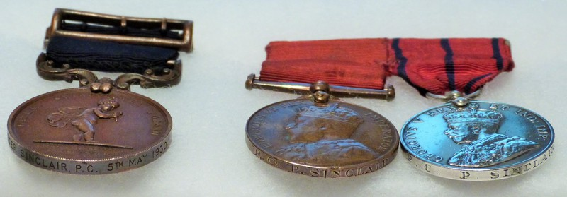 Medals of the Royal Humane Society, awarded to those who put their own lives at great risk in attempting to save a life