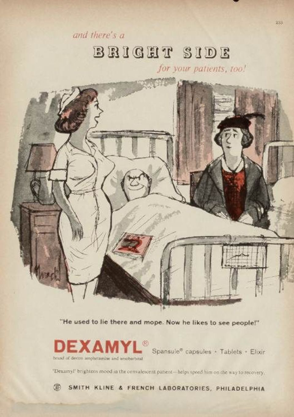 Advert for Dexamyl (known as Drinamyl in the UK)