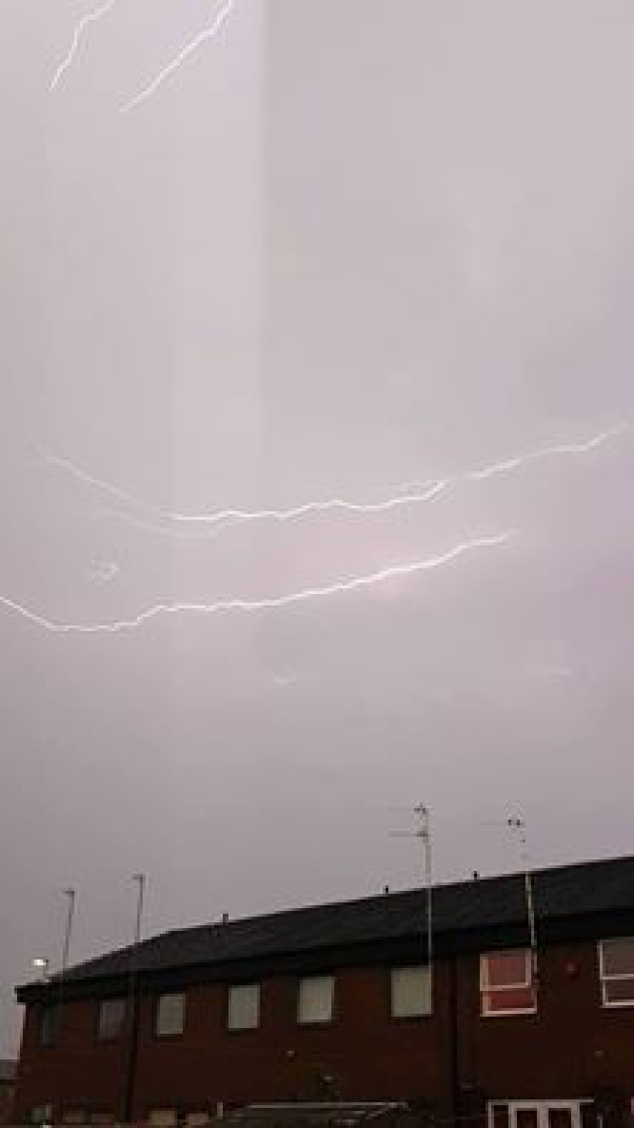 Lightning strike over Salford M5 - By Donna Massey