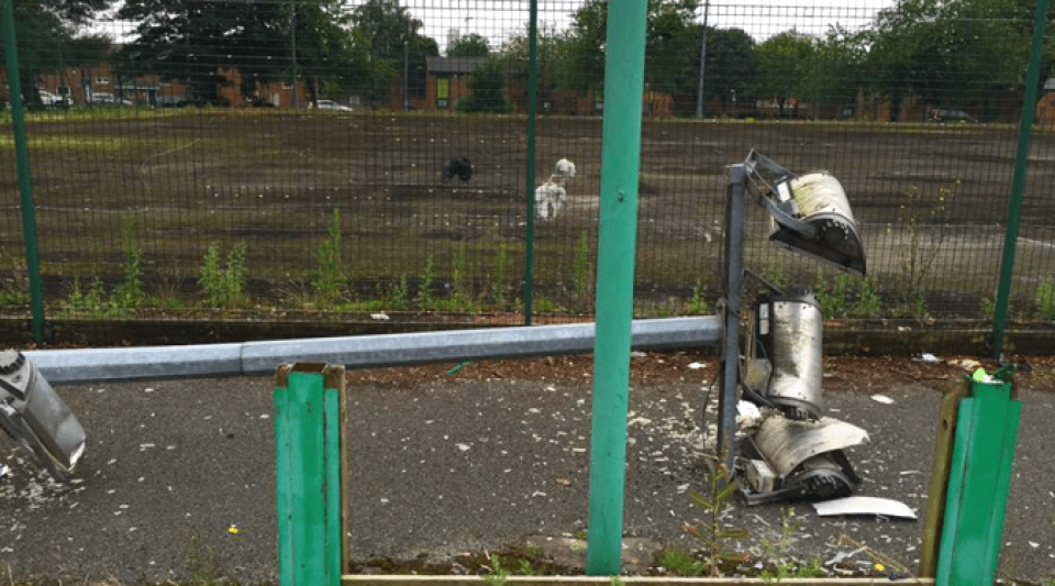 Floodlights smashed on Clarendon Park in June cause £30,000 of damage