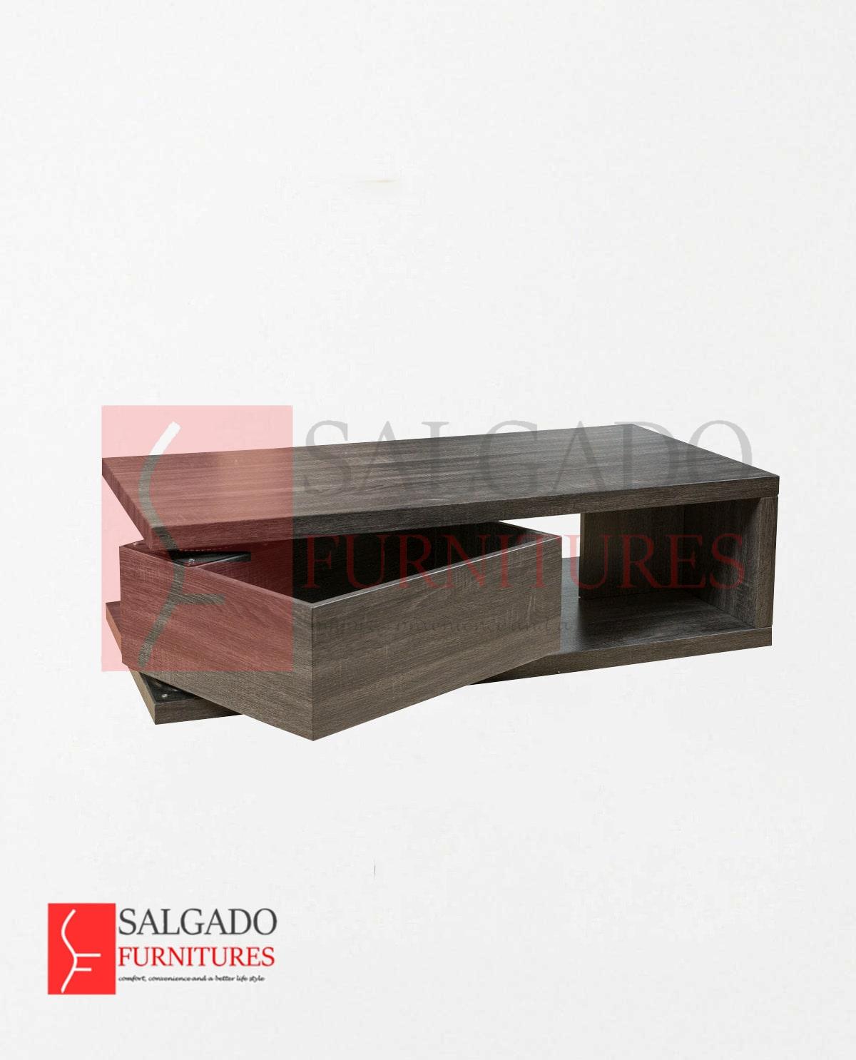 rectangular rotating coffee table