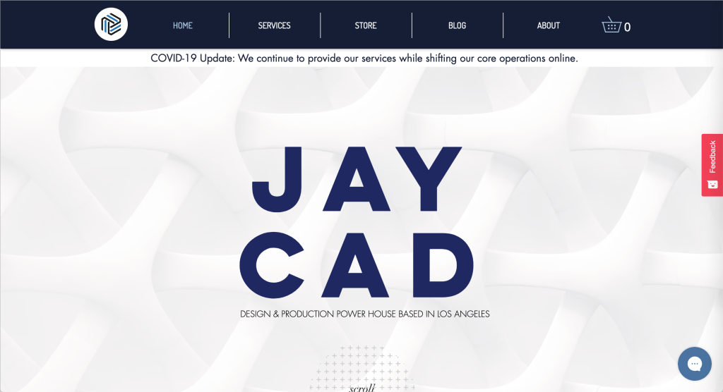 Website homepage image for Jay Cad