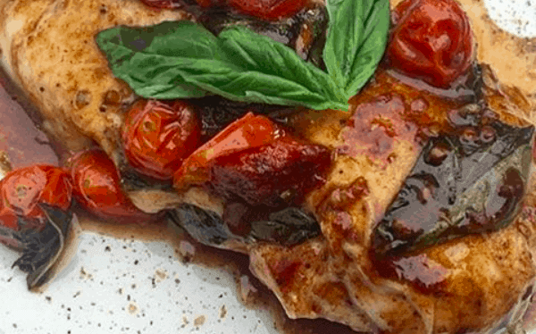 Basil Tomato Balsamic Chicken