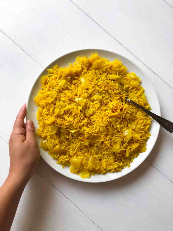 Golden Rice with Turmeric Black Pepper Ghee