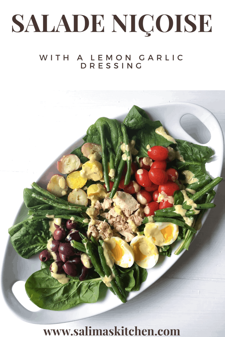 Salade Niçoise with a Lemon Garlic Dressing