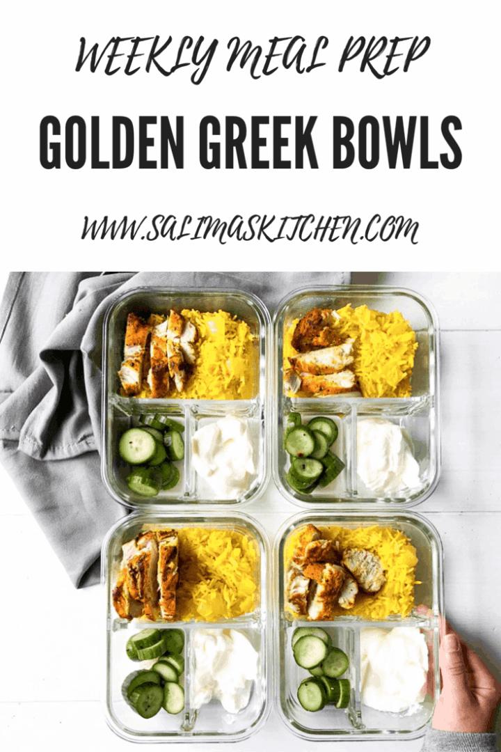 Golden Greek Bowls