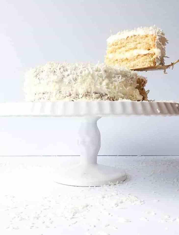 Gluten Free Vanilla Cake with Coconut Cream Cheese Frosting